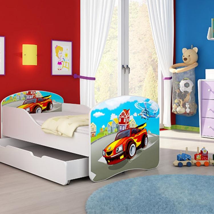 Drveni krevet za decu sa dodatnom fiokom 140x70 acma 1