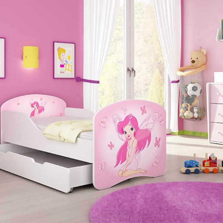 Drveni krevet za decu sa dodatnom fiokom 160x80 acma 1