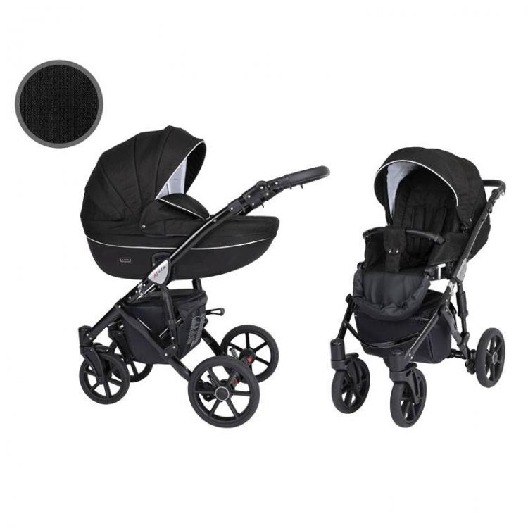 Kunert Mila kolica za bebe - beli ram, set 2u1