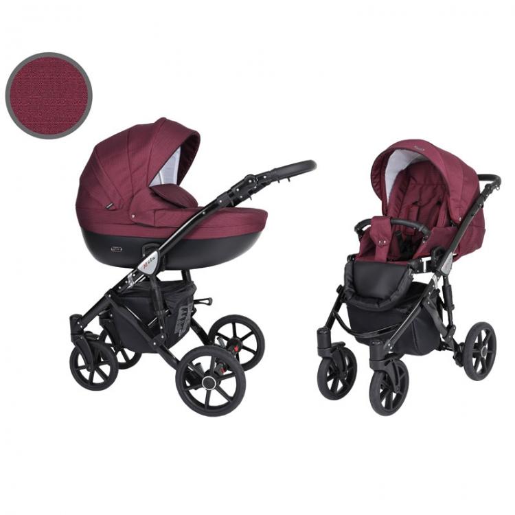 Kunert Mila kolica za bebe - crni ram, set 2u1