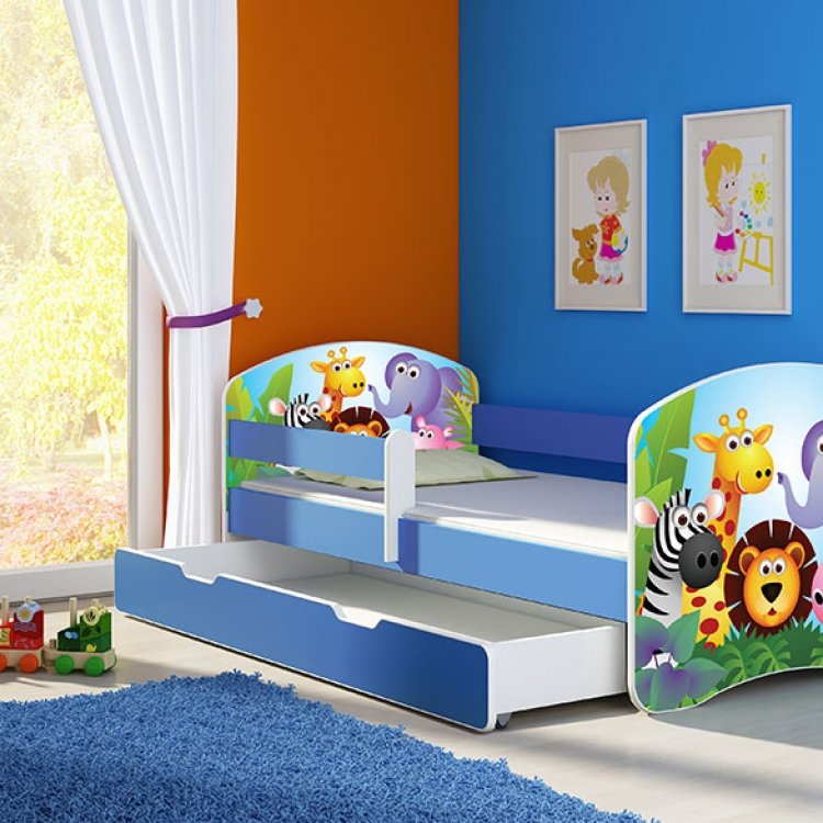 Krevet za decu Blue sa fiokom 140x70 acma 2