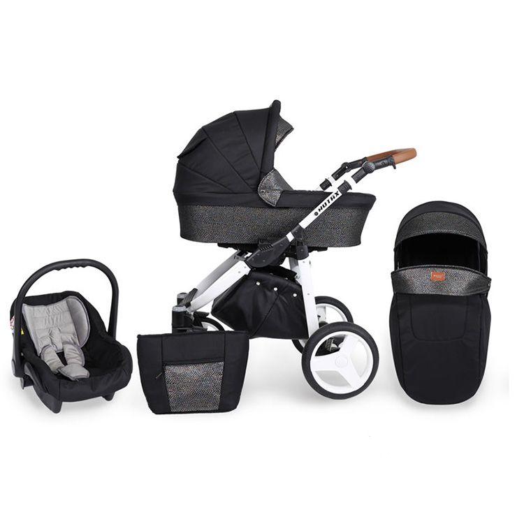 Kunert Rotax kolica za bebe - beli ram, set 2u1