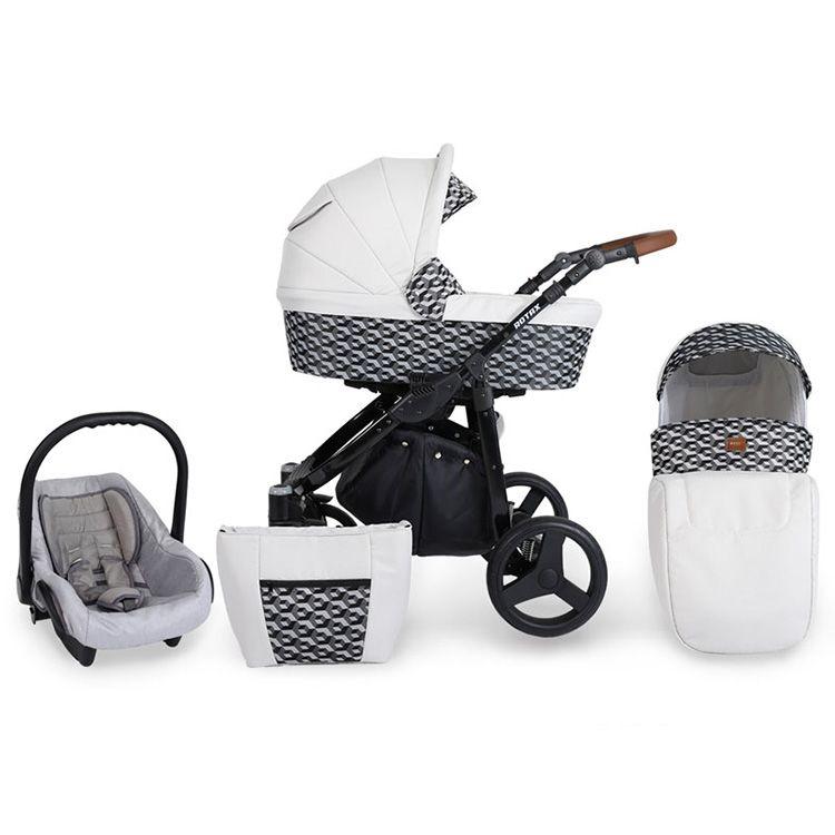 Kunert Rotax kolica za bebe - crni ram, set 2u1