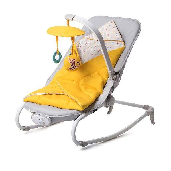 Kinderkraft stolica za ljuljanje FELIO yellow - Kolica za bebe