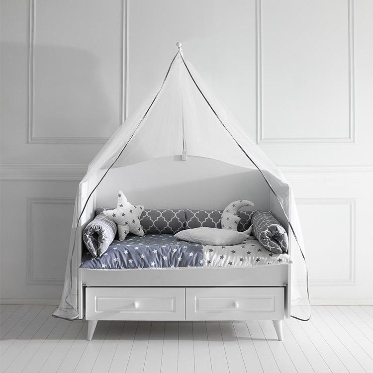 Posteljina za bebi krevetac BONY Siva 120X60cm