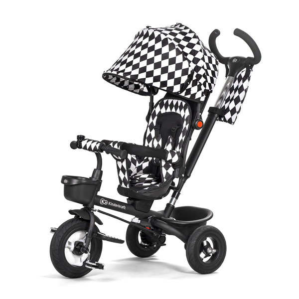 Kinderkraft tricikl AVEO 2u1 black