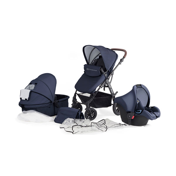 Kinderkraft Moov kolica za bebe set 3u1 navy