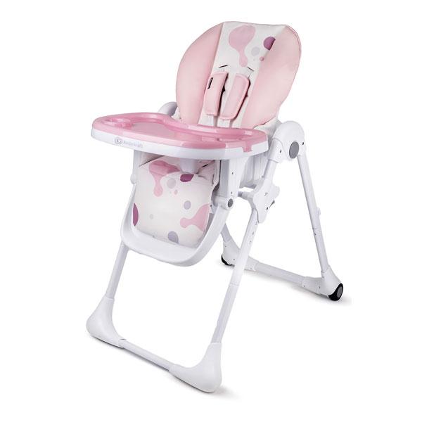 Kinderkraft stolica za hranjenje YUMMY pink