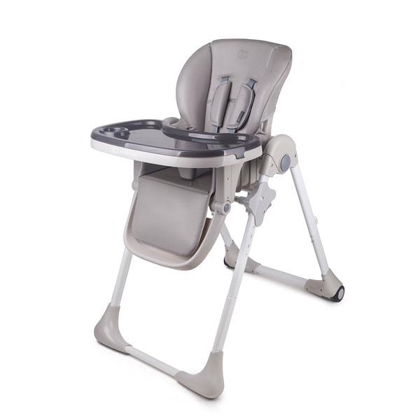 Kinderkraft stolica za hranjenje YUMMY grey