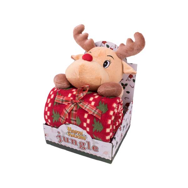 """Poklon set ćebe + igračka """"Rudolf"""""""