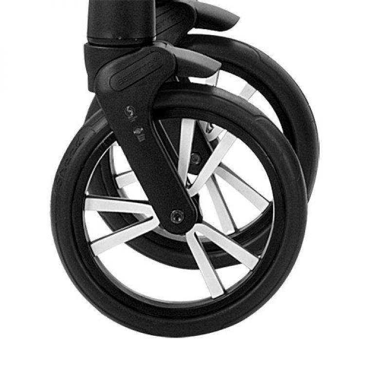 Prednji točak za kolica - crno beli