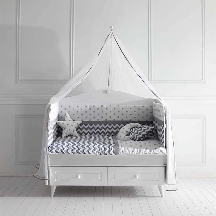 Posteljina za bebi krevetac STELLA siva 120x60cm