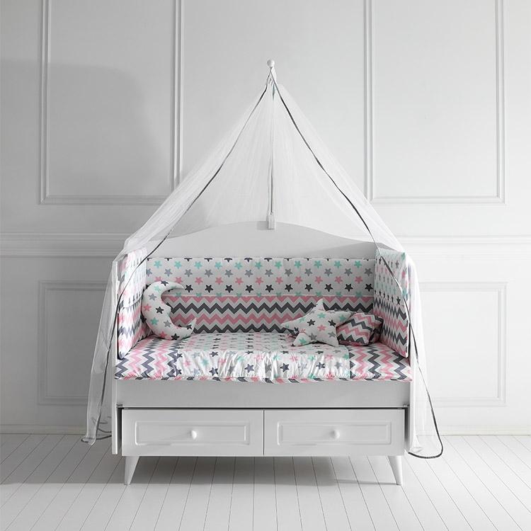 Posteljina za bebi krevetac COLORFUL Pink 120x60cm