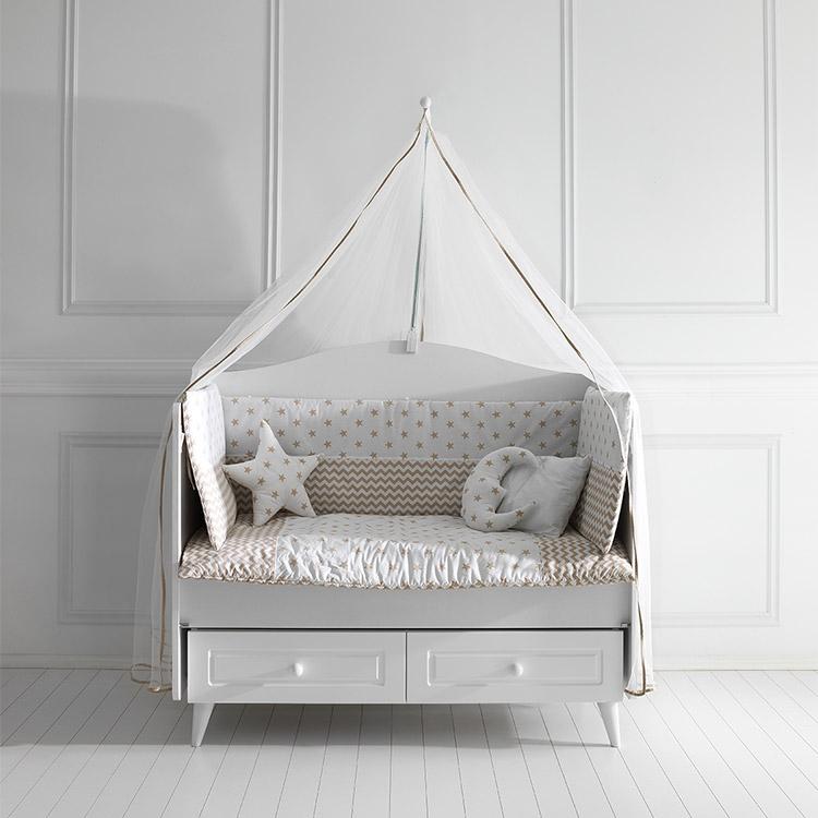 Posteljina za bebi krevetac COLORFUL Krem 120x60cm