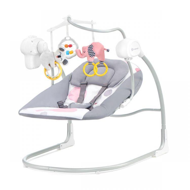 Kinderkraft stolica za ljuljanje MINKY pink