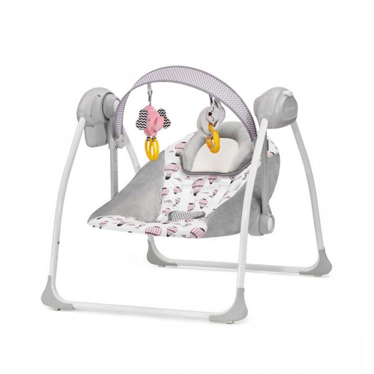 Kinderkraft stolica za ljuljanje FLO pink