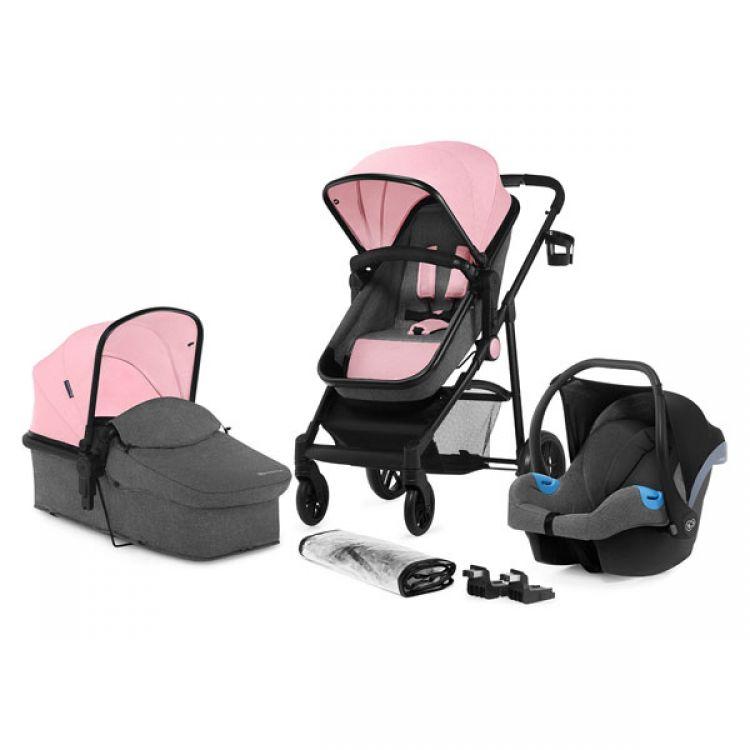 Kinderkraft JULI kolica za bebe set 3u1 pink