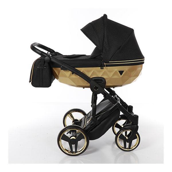 Junama Mirror Satin kolica za bebe set 3u1