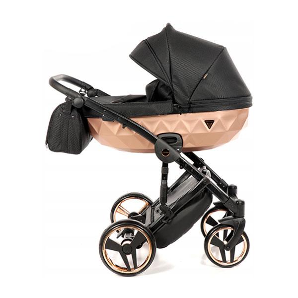 Junama Mirror Satin kolica za bebe set 2u1