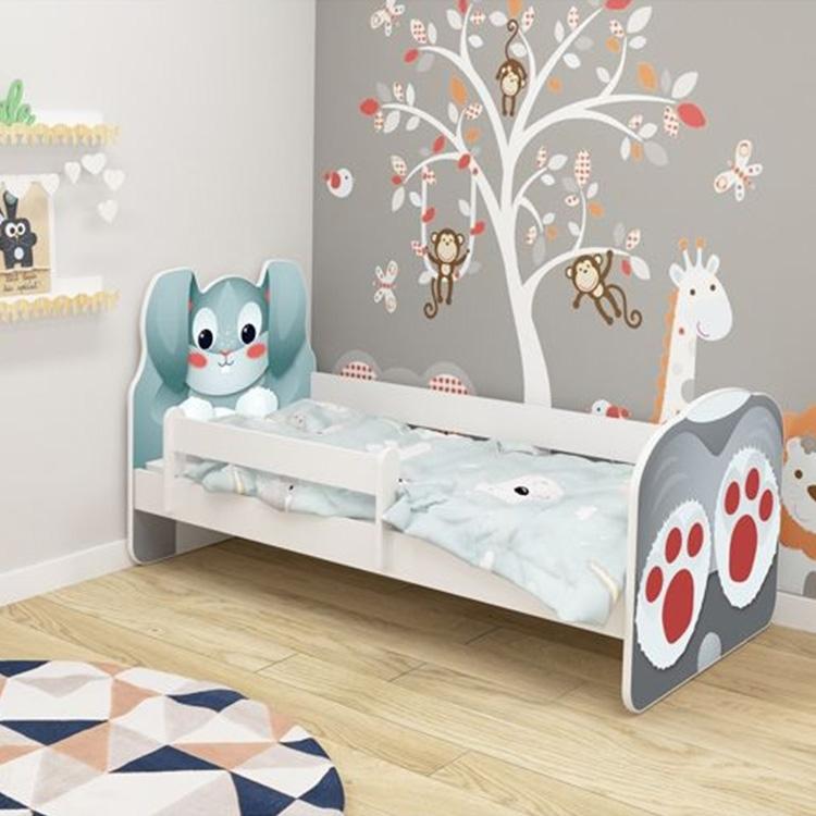 Krevet za decu ANIMALS 140x70 cm White acma VII