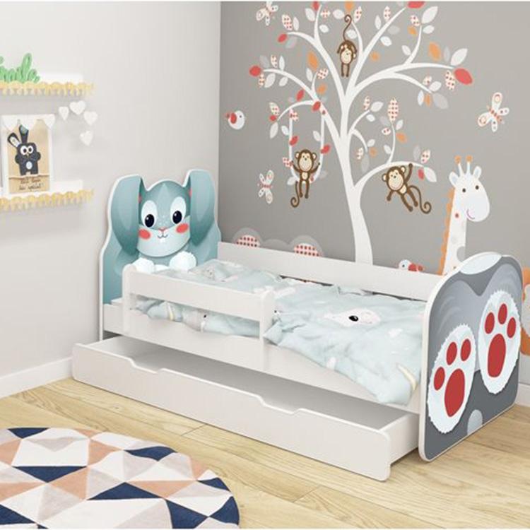Krevet za decu ANIMALS 140x70 cm sa dodatnom fiokom White acma VII