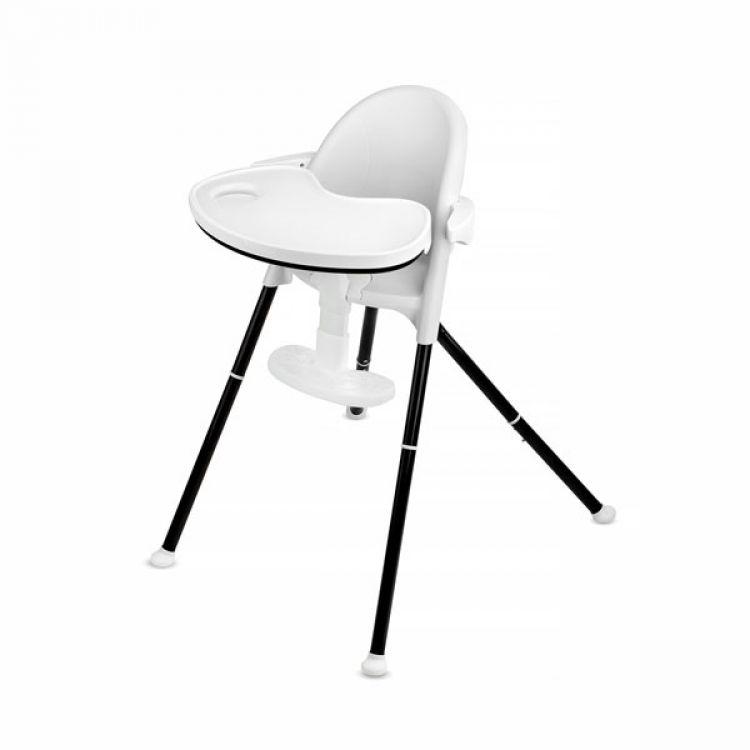 Kinderkraft stolica za hranjenje 2u1 PINI white