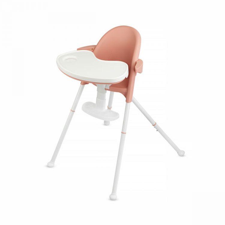 Kinderkraft stolica za hranjenje 2u1 PINI pink