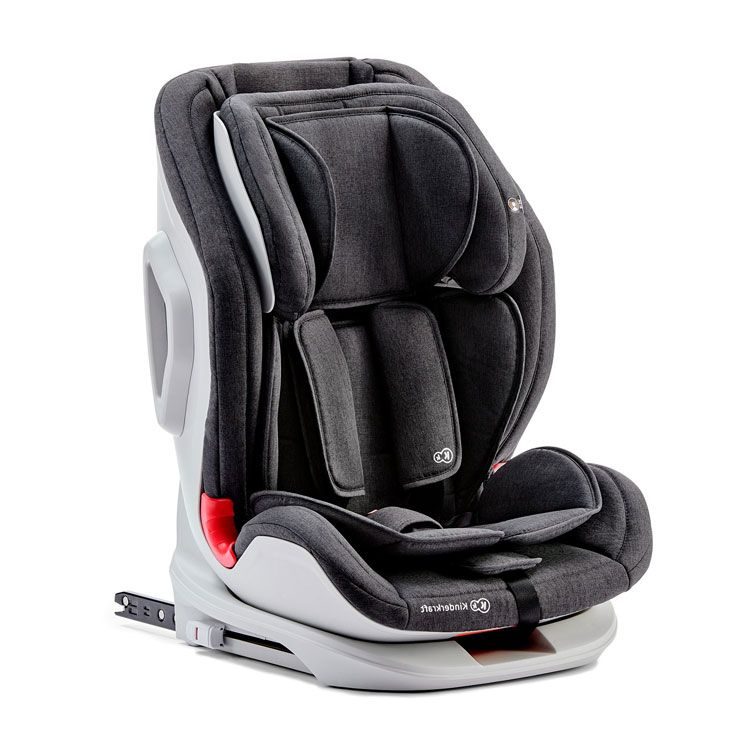 Kinderkraft auto sedište ONETO3 black/grey 9-36kg isofix