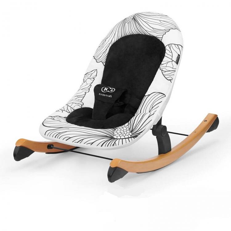 Kinderkraft stolica za ljuljanje finio black/white