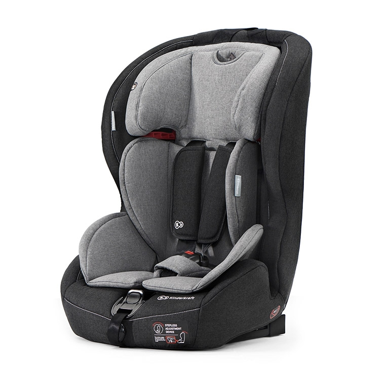 Kinderkraft auto sedište safety-fix isofix black/grey