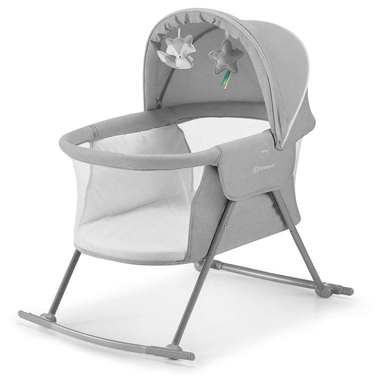 Kinderkraft prenosivi krevetac/kolevka lovi grey
