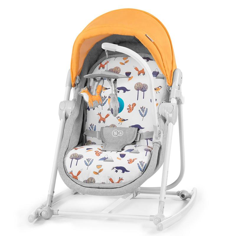 Kinderkraft stolica za ljuljanje 5u1 unimo forest yellow 2020