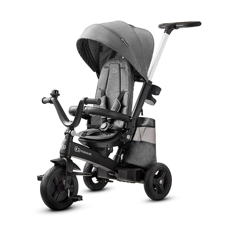 Kinderkraft tricikl easy twist 2u1 platinum grey