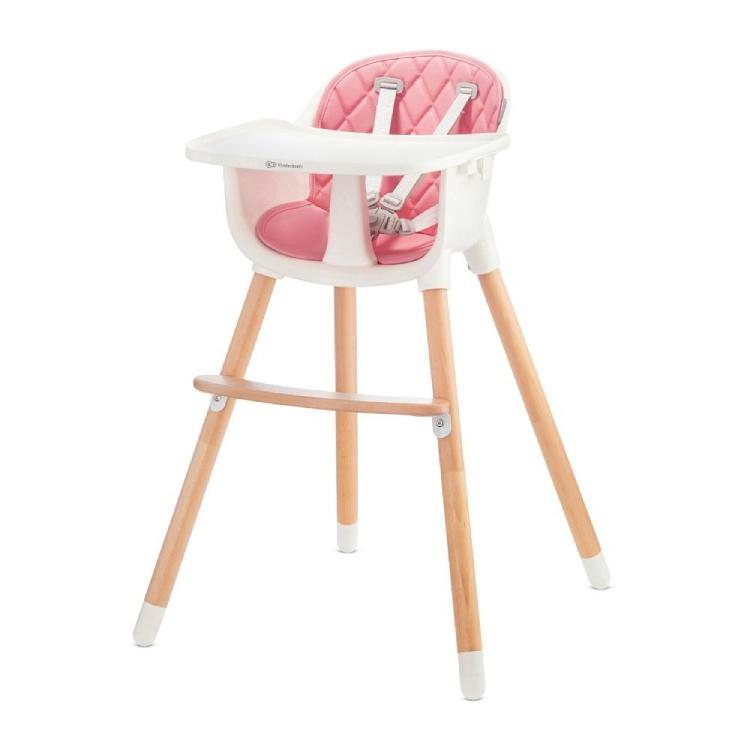 Kinderkraft stolica za hranjenje 2u1 sienna pink