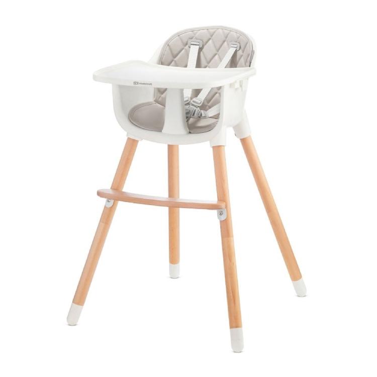 Kinderkraft stolica za hranjenje 2u1 sienna grey