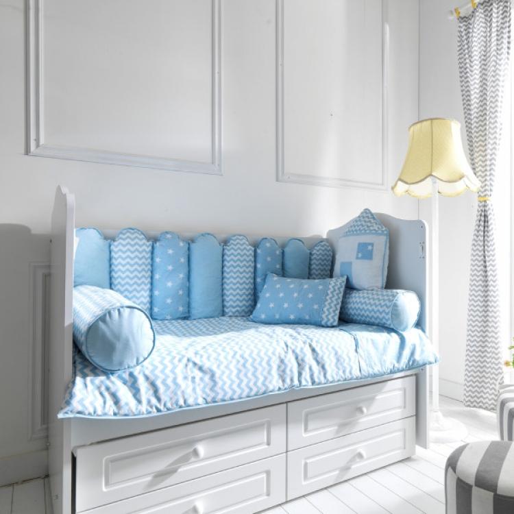 Posteljina za krevetac my home plava 120x60cm - Kolica za bebe