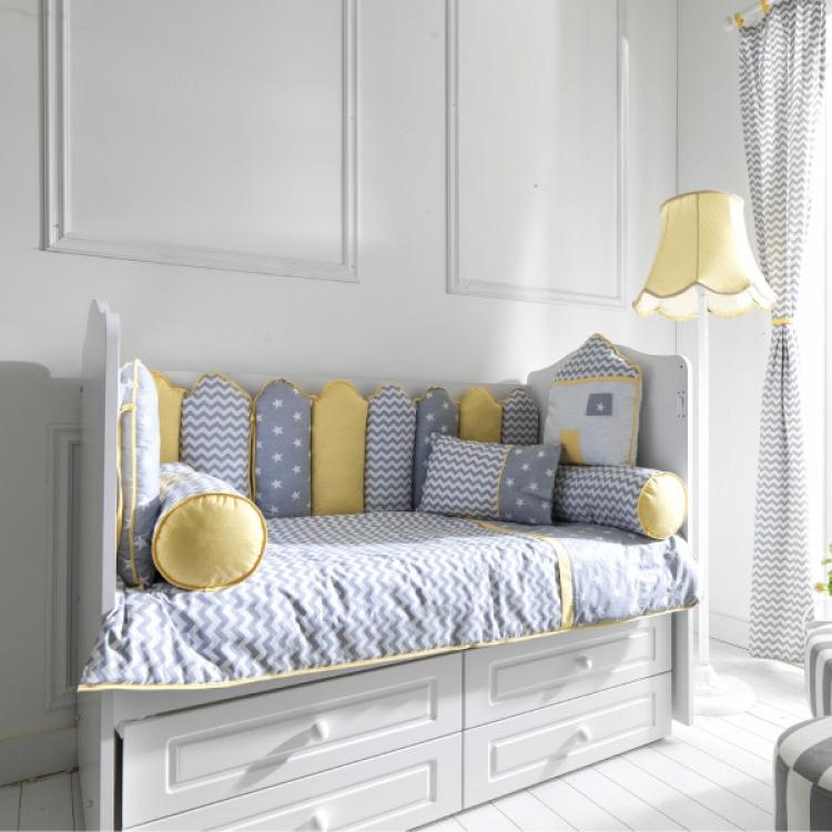 Posteljina za krevetac my home žuta 120x60cm